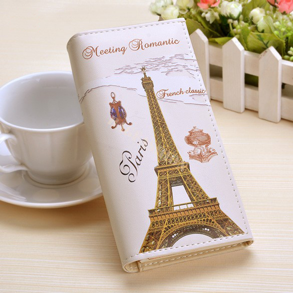 Paris Flags Eiffel Tower Women Wallets Bags Long Clutch Lady Purses Handbags Moneybag Girls Coin Purse Cards Holder Burse Wallet page flags green 50 flags dispenser 2 dispensers pack