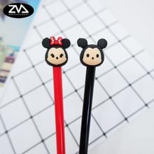 цены 2pcs/ lot Cartoon fat rat gel pen creative stationery kawaii school Office supplies  Papelaria Canetas Escolar Gel pen