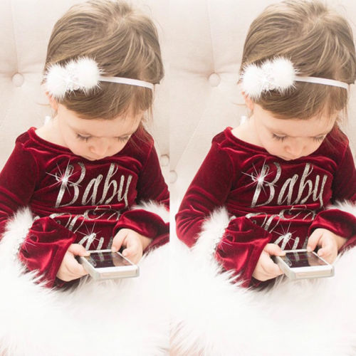 Pudcoco 2017 New Pleuche Christmas Baby Girls Romper long sleeves infant newborn baby jumpsuit princess plush Pudcoco 2017 New Pleuche Christmas Baby Girls Romper long sleeves infant newborn baby jumpsuit princess plush clothes xmas gift