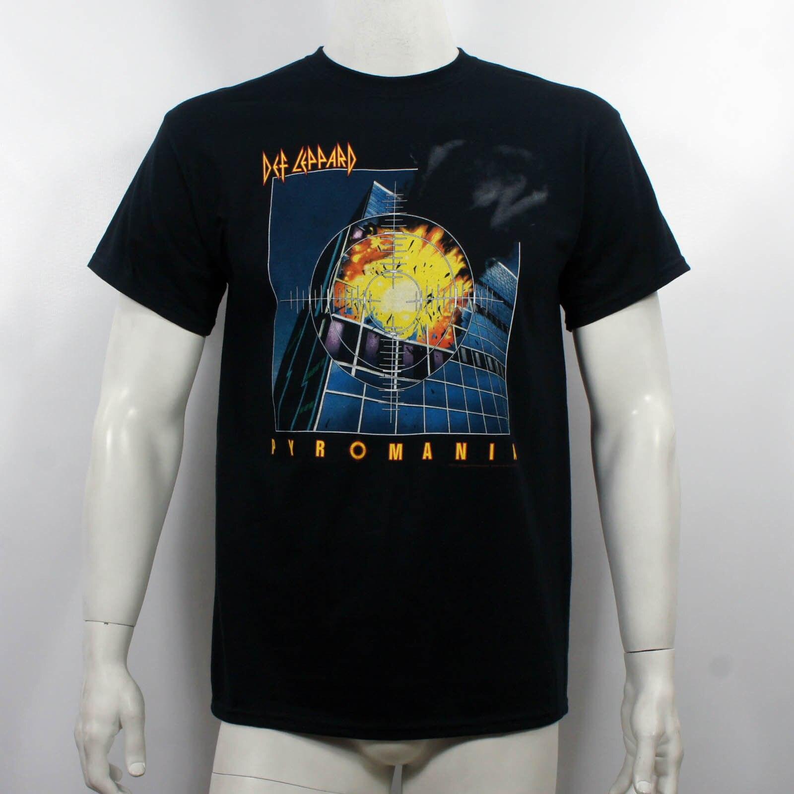 Gildan authentische def leppard pyromania album abdeckung neue männer t-shirt