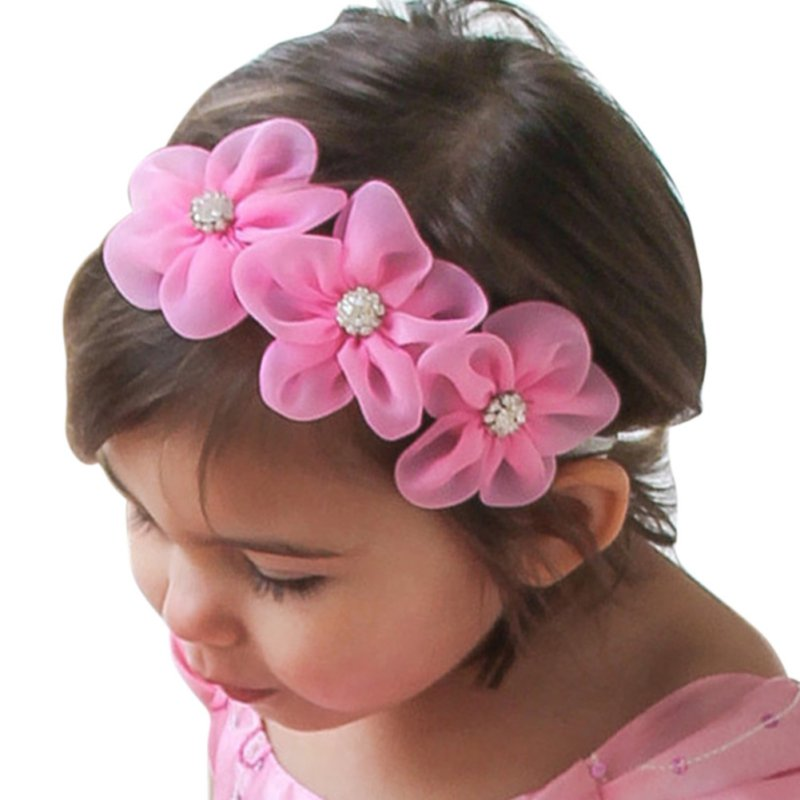 Kids Girls Baby Toddler Cute Elastic Headband Flower Infant Hair Band Children Head wear new 10 1 inch tablet case for asus memo pad 10 me102 me102a v2 0 v3 0 lcd display touch screen panel mcf 101 0990 01 fpc v3 0