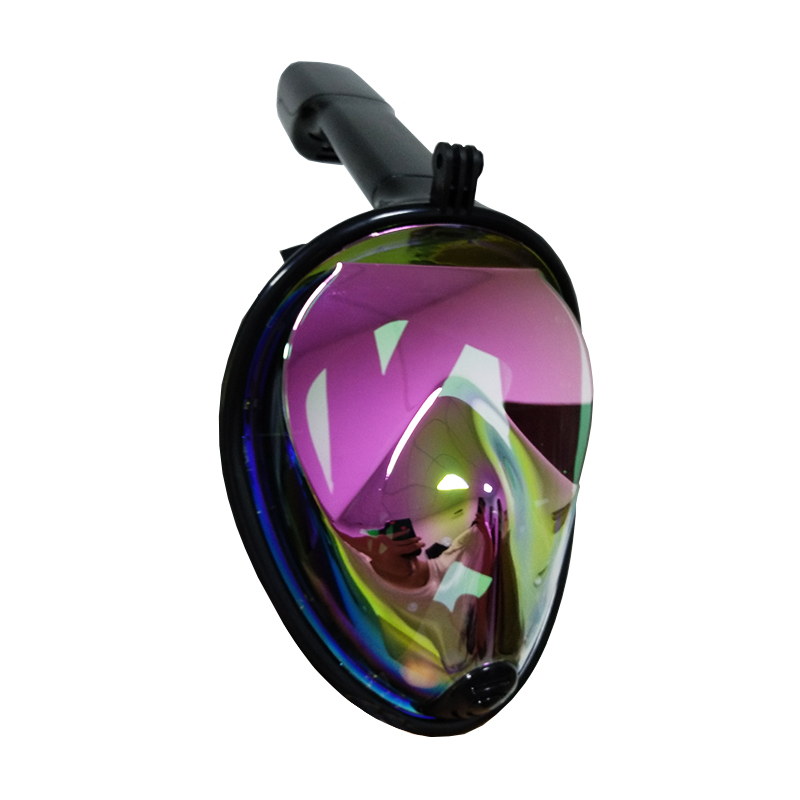 Submersible Scuba Diving Mask Full Face Snorkeling Mask Underwater Anti Fog Snorkeling Diving Mask For Swimming Spearfishing outdoor nylon lycra swimming diving face mask cap black