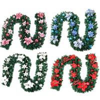 2.7 M Christmas Rattan Garland Christmas Wedding Wreaths Decor Rattan Wreath Home Material DIY Party Artificial Dried Wreath