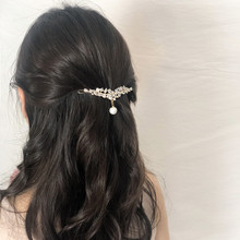 CHIMERA Pearl Hair Clip Pendant Crystal Wedding Accessories for Women Elegant Barrette Fashion Pin Hairgrips Jewelry