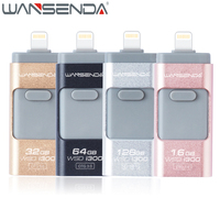 Original Lightning OTG USB Flash Drive Pendrive For Apple IOS Android PC 3 In 1 USB
