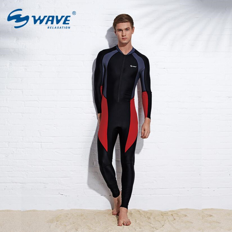 Couples Swimwear Wetsuit Conjoined Male Long Sleeve Zipper Aquatic Sports For Men Surfing Snorkeling Diving Swimsuit Equipment