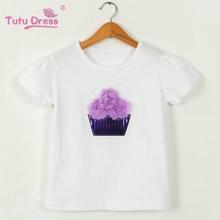 Baby Girl Clothes Summer 100% Cotton White Girls T-Shirt Tops Tee Children Clothing Short Sleeve Baby Girls T Shirt