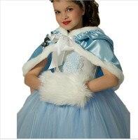 Girls Dress Elsa Anna Winter Dress For Girl Hot Princess Dresses Brand Girls Dress Children Clothing