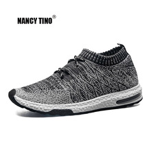 NANCY TINO Men Breathable Sports Shoes Outdoor Walking  Athletic Lace-up Lightweight Running For Male Comfortable Sneakers