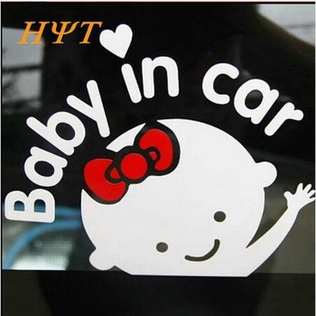 Hot Selling Car-Styling Cartoon Car Stickers Vinyl Decal Baby in car Window Rear Windshield Cute Car Sticker image