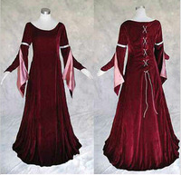New Arrival Custom made Medieval Renaissance Gown Dress Wedding Cosplay Costume