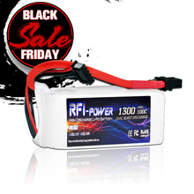 RFI power 1300mAh 14.8V 100C(Max 200C) 4S Lipo Battery Pack for FPV RACING