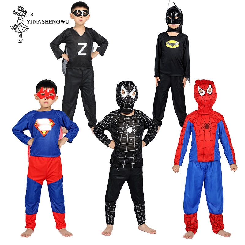 Cosplay Costume with Mask Superhero Cosplay Suit Cosplay Anime Boy Kid One Piece Full Bodysuit Halloween kid Costumes for party in Boys Costumes from Novelty Special Use