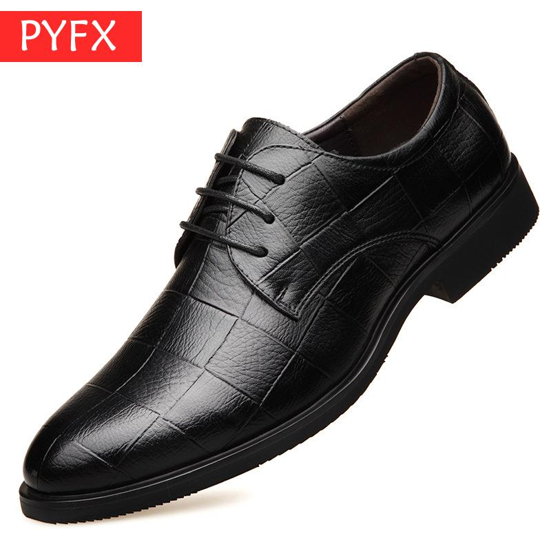 New 2019 summer men 39 s casual business suit breathable black snake print leather Derby shoes Classic luxury flat dress shoes in Formal Shoes from Shoes