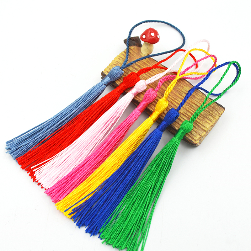 32pcs Polyester 13cm Silk Tassels Fringe Spike Tassels Hanging Curtains Mix Pick For Sewing Decor DIY Jewelry Making 32 Colors in Tassel Fringe from Home Garden