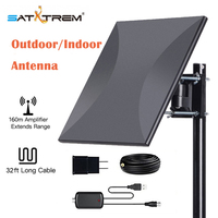 Digital HDTV Antenna 160 Miles Range Outdoor Indoor Signal Amplifier Booster Tv Antenna Supports 360 degree receive signals
