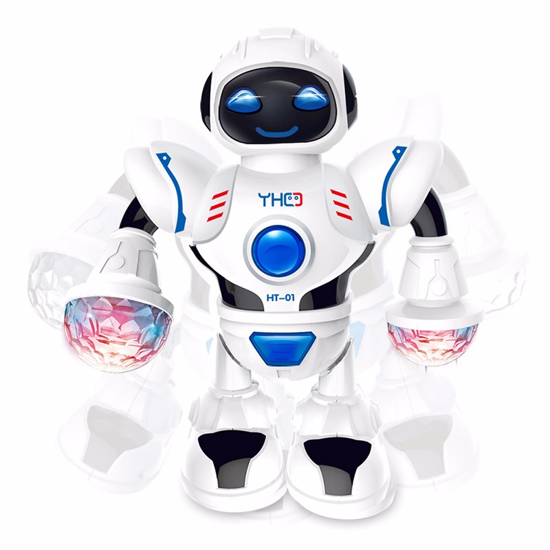 цена на New dancing machine dog toy LED light music dancing robot interactive toy to accompany the child's best gift