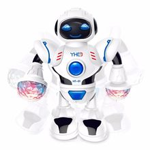 New dancing machine dog toy LED light music dancing robot interactive toy to accompany the child's best gift(China)