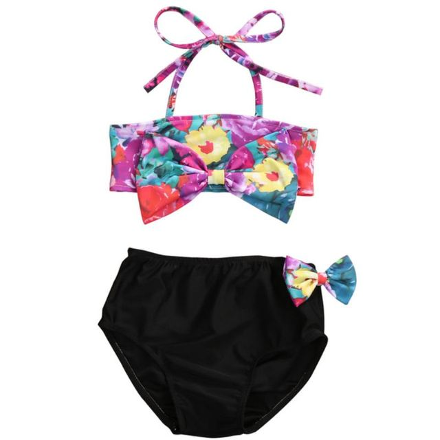 d7aa6c1163a30 Swimwear Summer Kids Baby Girls Floral Bikini Swimwear Swimsuit Bathing  Suit Swimmer Clothes