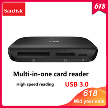 100% Original Sandisk IMAGEMATE PRO USB 3.0 Multi-function High Speed Card DR-489 reader for SD/TF/CF Micro SD Smart Memory