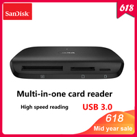 100% Original Sandisk IMAGEMATE PRO USB 3.0 Multi function High Speed Card DR 489 reader for SD/TF/CF Micro SD Card Smart Memory