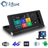 Kissen 7 4G Wifi ADAS Car DVR Dash Camera Android 5.1 Full HD 1080P GPS Navigation Video Recorder Bluetooth Dual Lens Dash Cam