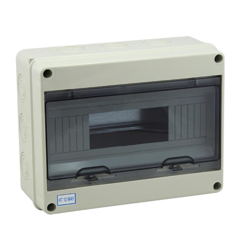 Free Shipping CE Approval 8 Ways Waterproof ABS Plastic Mini Distribution Box Circuit Breaker Box 195*145*90mm