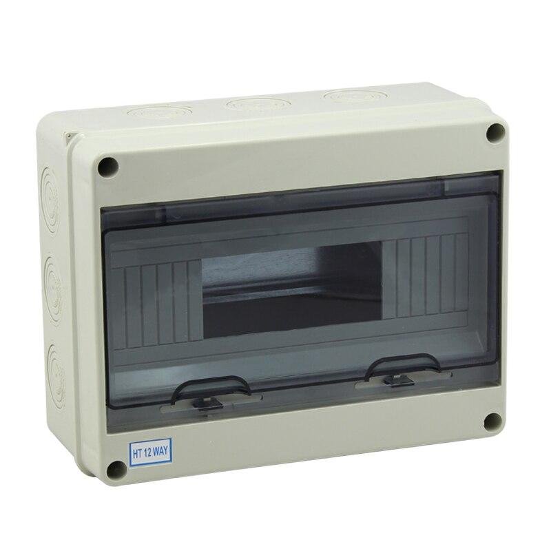 Livraison Gratuite Approbation de la ce 8 Façons Étanche ABS En Plastique Mini Boîte de Distribution Disjoncteur Boîte 195*145*90mm
