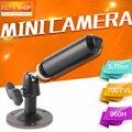 """1/3 """"sony ccd 700tvl effio-e 3.7mm lens mini bala cctv câmera pinhole com fio com suporte cor preto para 960 h dvr"""