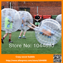 Free logo ,1.5m outdoor inflatable bumper game ball