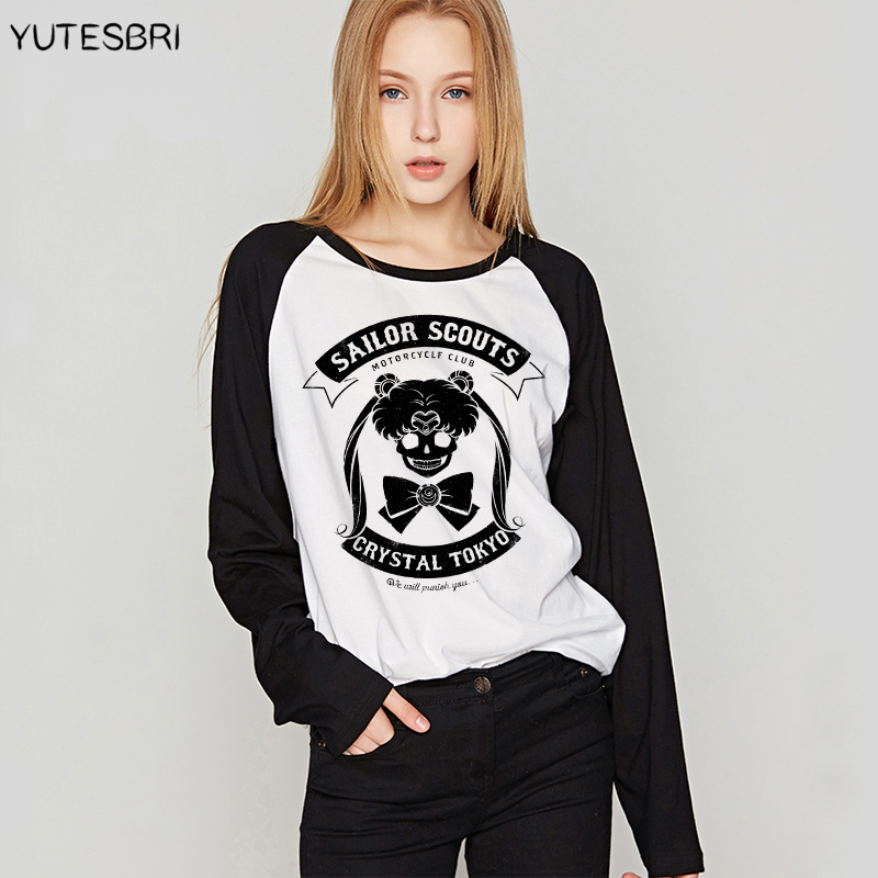 VOGUE Sailor Moon clothes women tshirt high quality cotton clothing for women funny top femme japanese best friends t shirt