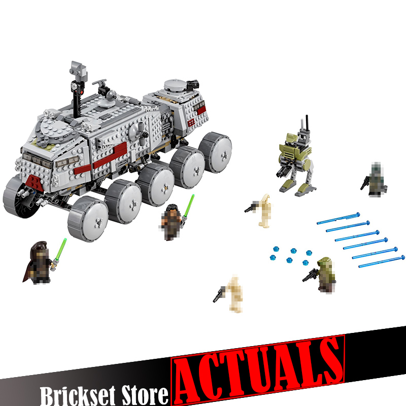 DIY 933Pcs Star Clone Turbo Tank Wars Building Blocks Movie Compatible legoingly 75151 Figures FOR KIDS 05031 Boys Toys GiftS 2018 hot ninjago building blocks toys compatible legoingly ninja master wu nya mini bricks figures for kids gifts free shipping