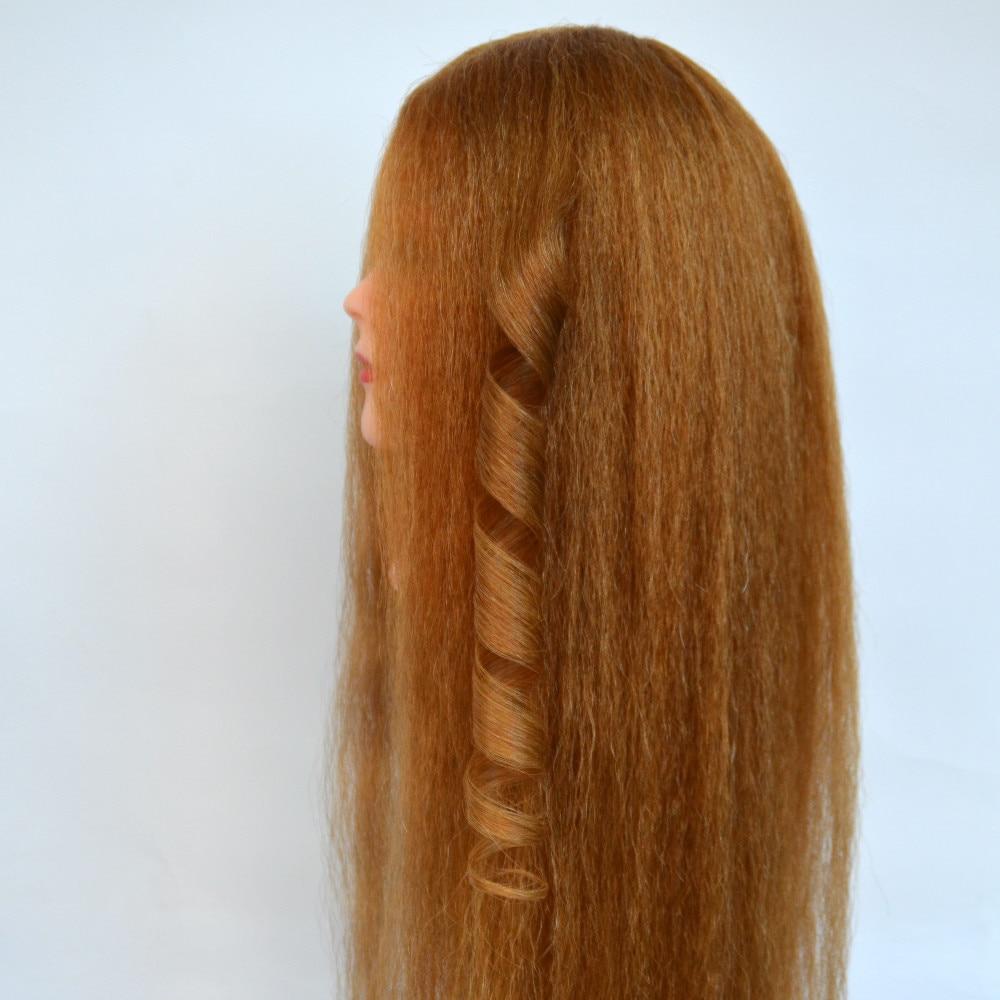 60 cm longueur de cheveux 95% Réel naturel Cheveux professionnel tête de coiffure poupées tête maniquins femmes mannequin tête
