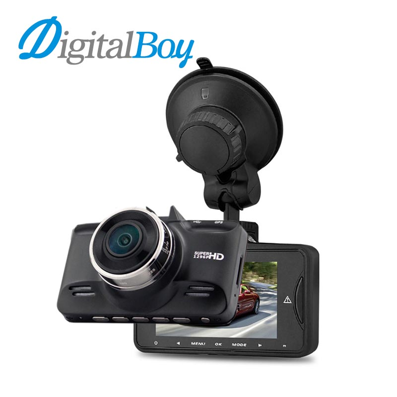 Digitalboy Car Dvr 1296P Super HD Car Camera Auto Video Recorder Camcorder Ambarella A7 Chip 170 Degree with GPS Logger Dash Cam gs90a ambarella a7 car dvr camera hd 2 7 inch dash cam 170 degree wide viewing angle camcorder with gps module