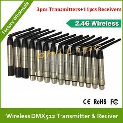 DHL darmowa wysyłka 2. 4G profesjonalne 2.4G DMX512 DMX główna Dfi DJ bezprzewodowy System odbiorniki kabel kontrolera w Oświetlenie sceniczne od Lampy i oświetlenie na