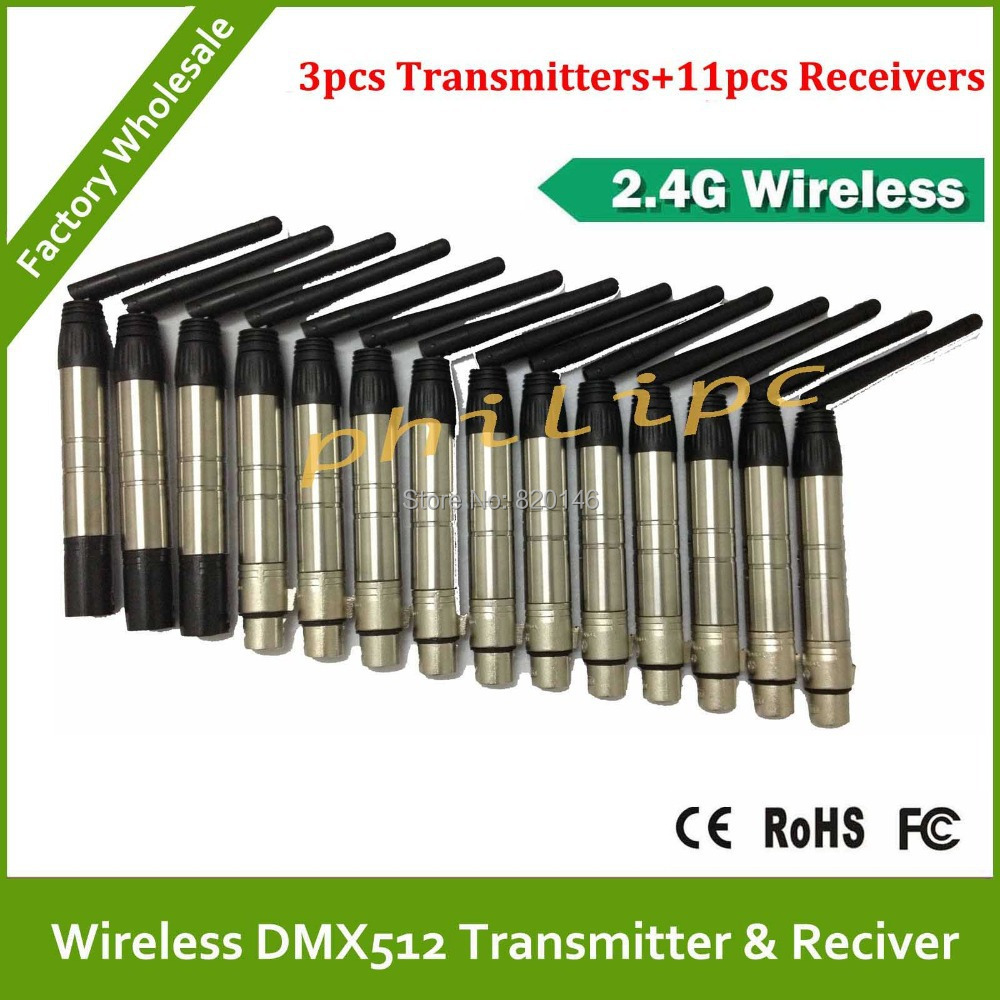 DHL free shipping 2 .4G Professional 2.4G DMX512 DMX Dfi DJ Wireless System Receivers Controller Cable dhl shipping atg100 portable mini meeting tourism teach microphone wireless tour guide system 1transmitter 15 receivers charger