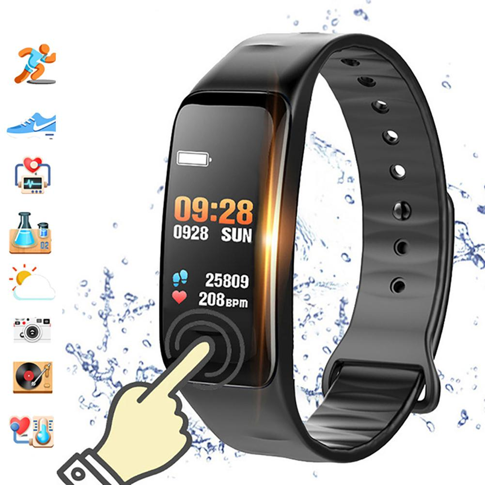 Hot Sale C1S Color Screen Heart Rate Monitor Fitness Tracker Sports Smart Bracelet Watch image