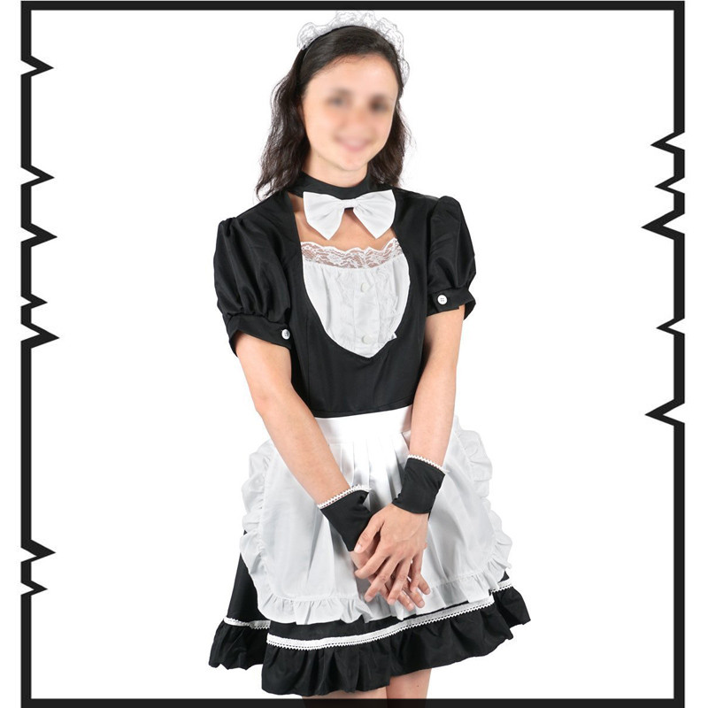 Anime japanese sexy maid women lingerie hot Sexy French Maid Cosplay waitress Housemaid Costume nightwear role game play