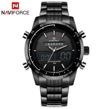 2016 New Fashion Men Sports Watches Men's Quartz Digital Multifunction Clock Man Full Steel Waterproof Army Military Wrist Watch
