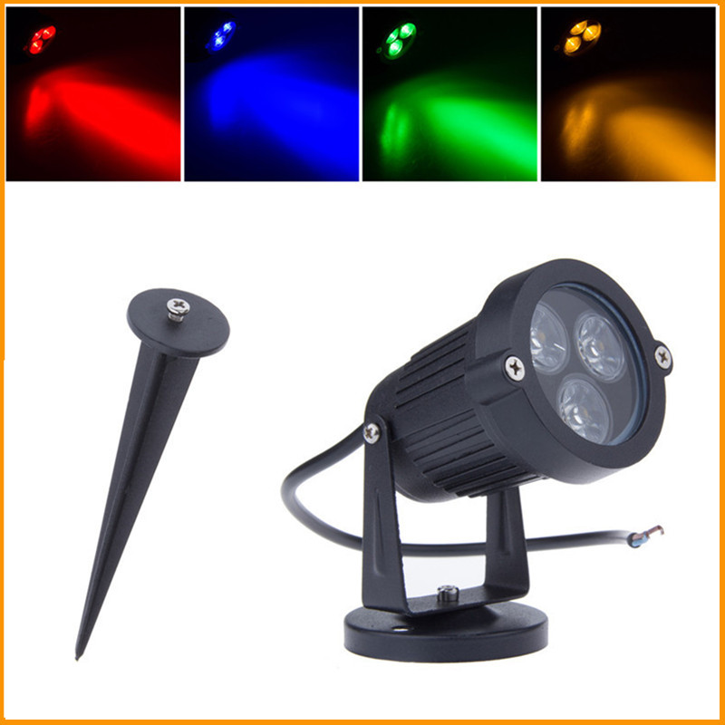 12V Outdoor LED Lawn Lamp Garden Light 3W 9W IP65 Waterproof Green Yellow  Red Blue White