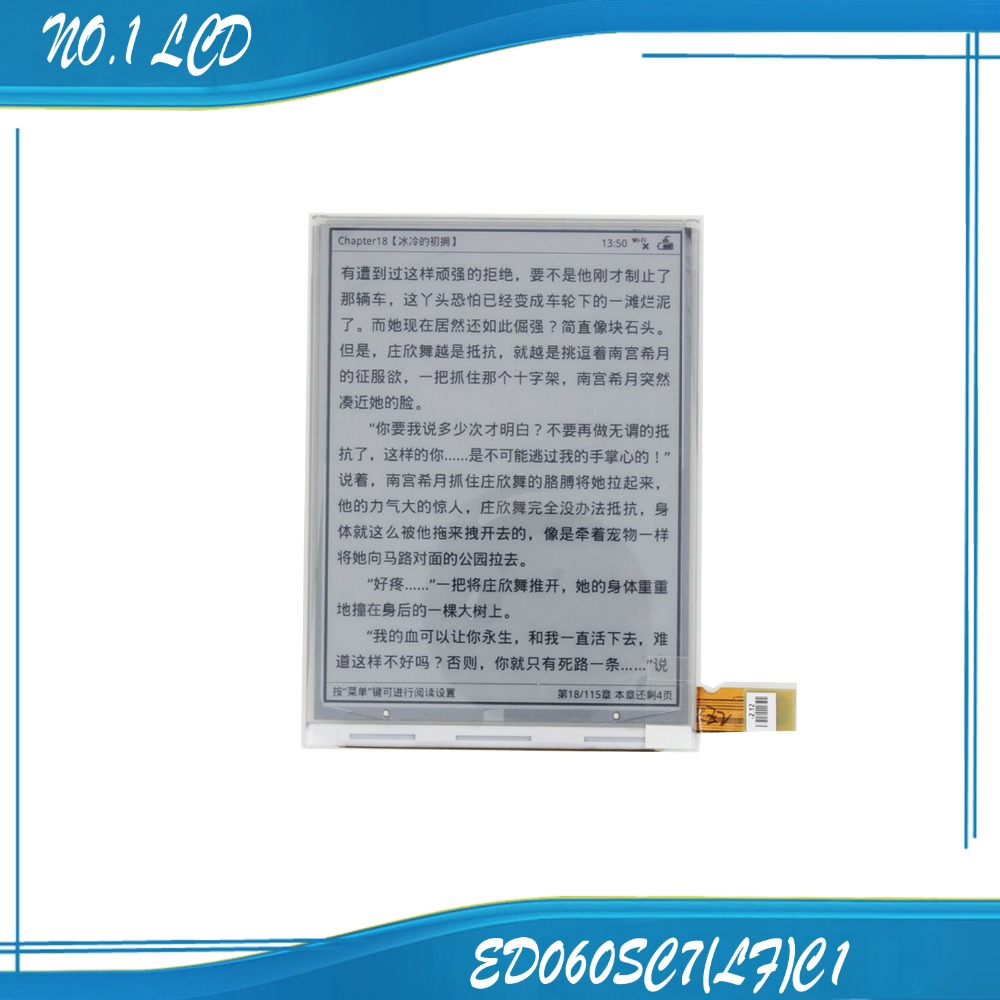 6.0 Inch Eink LCD Display Screen Parts for Pocketbook 614 Basic 2 Ebook reader free shipping
