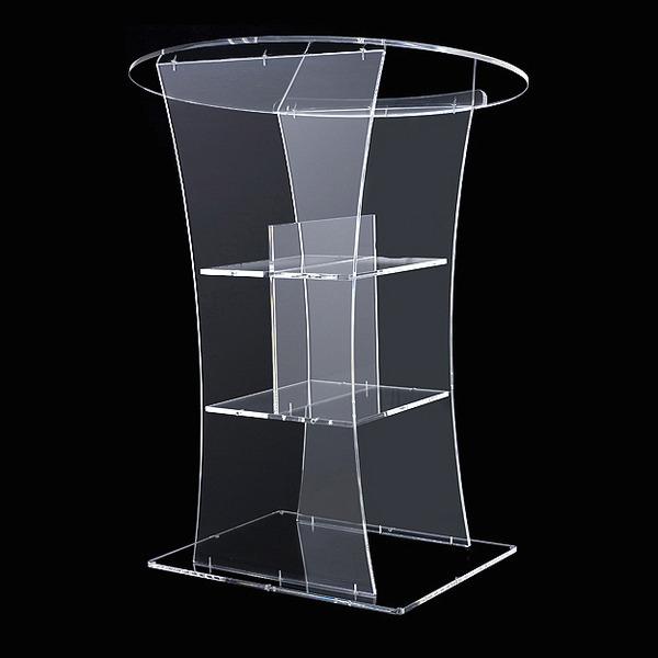 Tribuna clara led speaker bar móveis mesa de cristal pmma plexiglass acrílico pódio púlpito púlpito logotipo personaliza