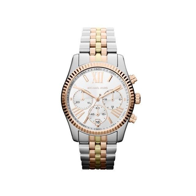 Наручные часы Michael Kors MK5735 женские с кварцевым хронографом на биколорном браслете