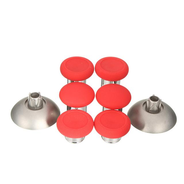 Novo 8 pçs/lote analógico grips thumbstick vermelho elite de swap para xbox one jogos controladores gamepad joystick substituição aperto caps