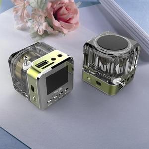 Image 2 - Receptor de Radio FM portátil, minialtavoz estéreo de sonido LCD Digital, microSD/TF, música para teléfono móvil, MP3, PK TDV26