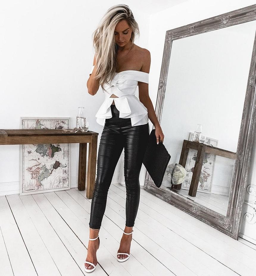 2d08f40b3ac Sexy Slash Neck Blouse Women Summer Off Shoulder Tops Office Ladies Shirt  Female Chic White Ruffles Split Joint Backless Blusas-in Blouses & Shirts  from ...