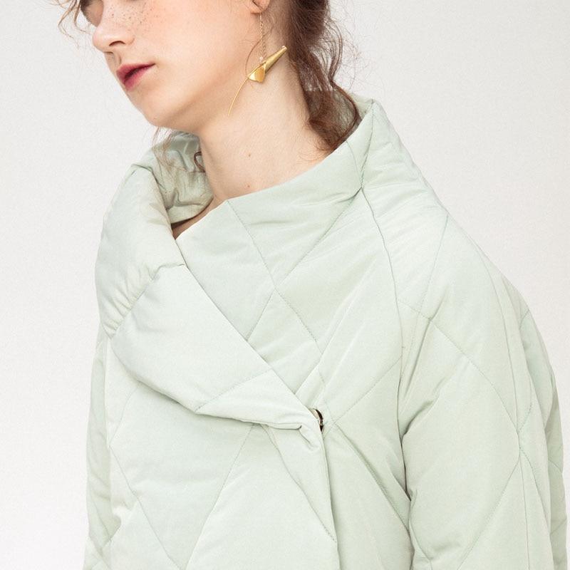 Hiver Parka Green Arrivée De white Couleur Zll2282 2018 Solide Casual Femmes Corée Couvert Bouton Zll2282 Nouvelle xitao Mode Asymétrique Light Pleine Manches daBqd