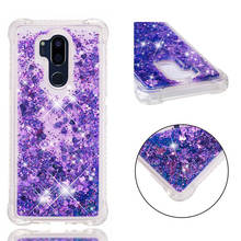 цена на G7 Cases For LG G7 G 7 case Back cover Bling Glitter Dynamic Quicksand Liquid Case for LG G7 ThinQ cover coque fundas