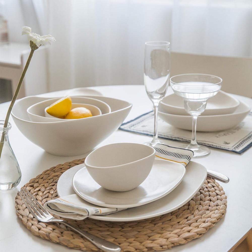 modern white dinnerware - modern white plates