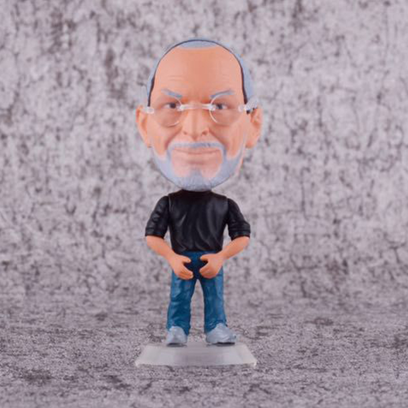 APPLE Cute version Steve Jobs Figure Model Dolls Toys 8cm